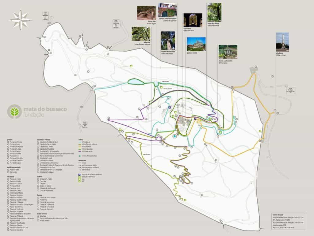 Mapa da Mata do Buçaco