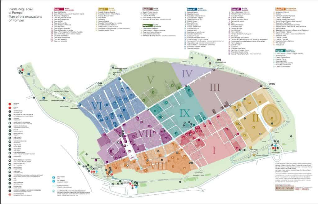 Mapa de Pompeia