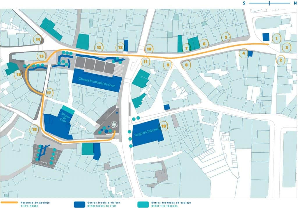 Mapa da Rua do Azulejo, Ovar