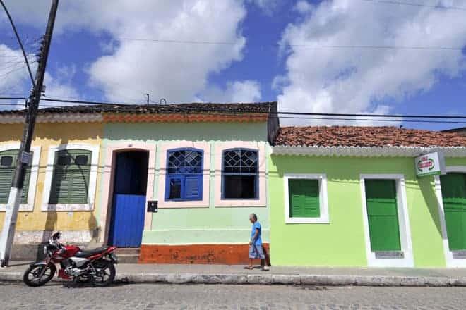 As cores quentes das fachadas de Marechal