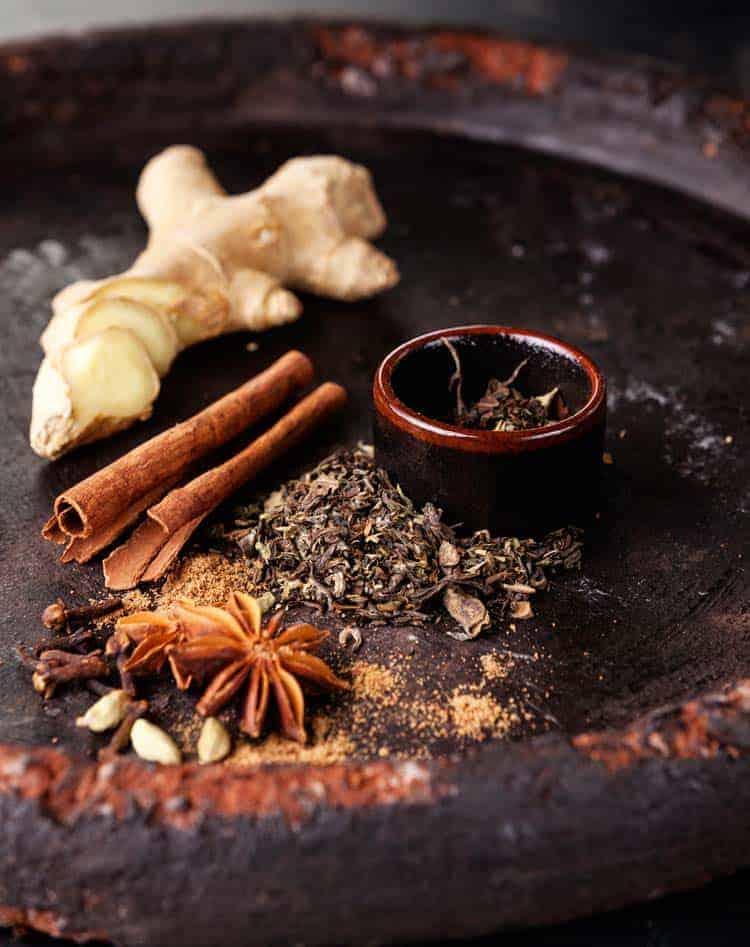 Ingredientes para masala chai