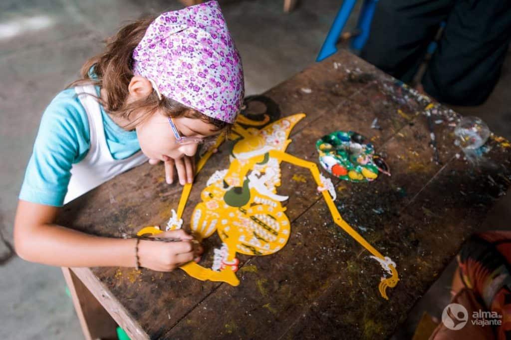 Marionetas em Yogyakarta