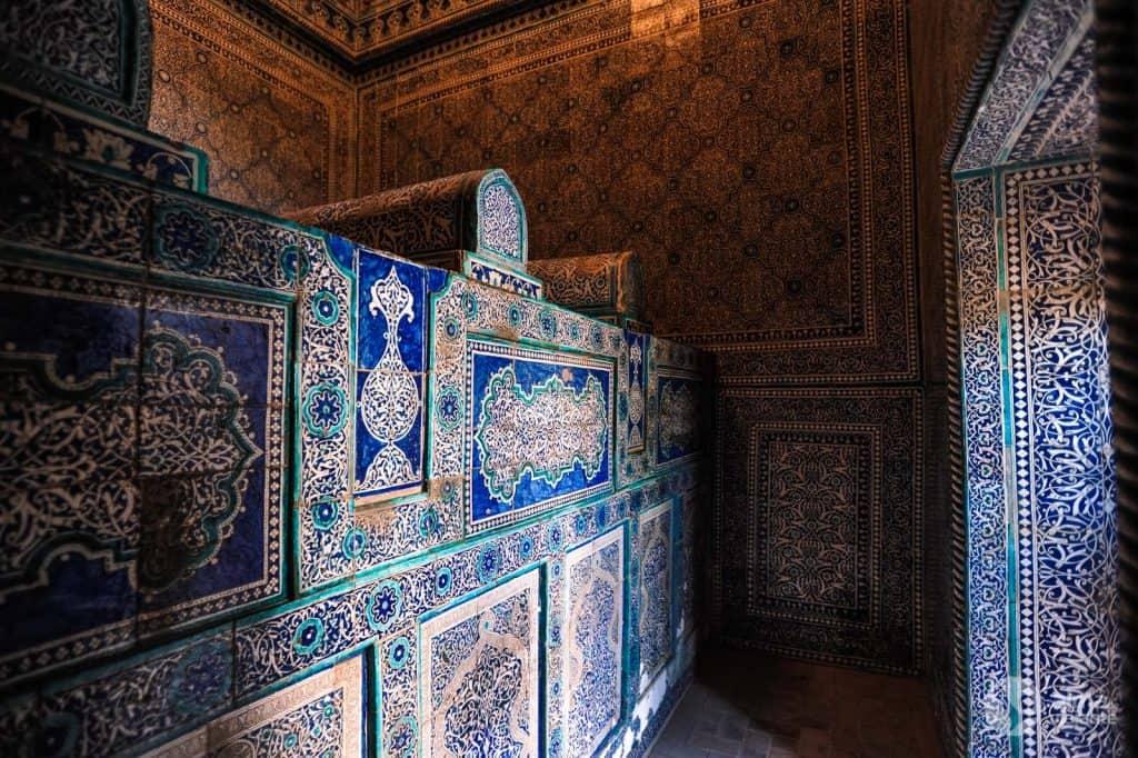 O que fazer em Khiva: mausoléu Pakhlavon Mahmoud