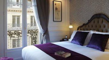 Quarto do Citadines Suites Louvre Paris