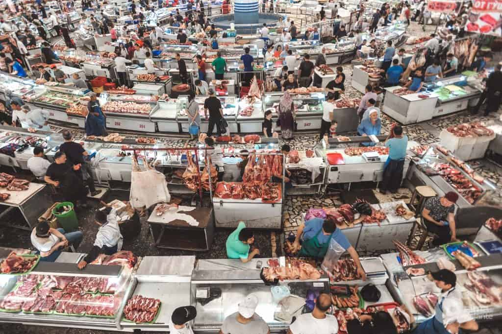 Tashkent - atrakcje: Chorsu Market