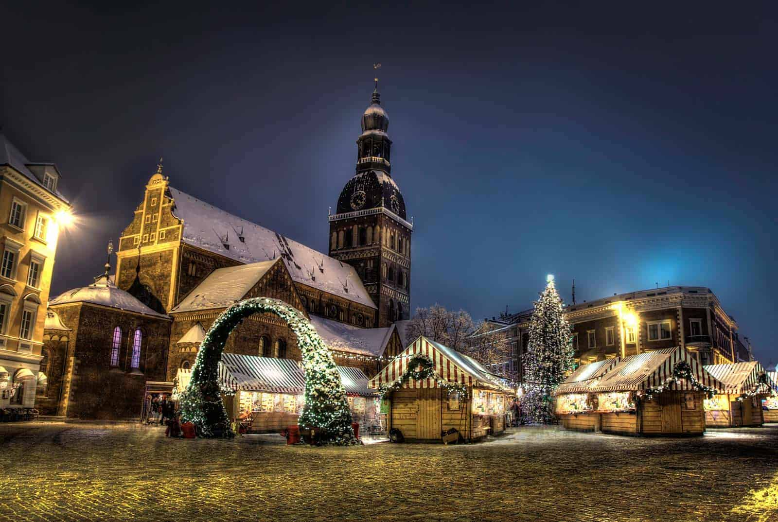 Mercado de Natal em Riga, Letónia