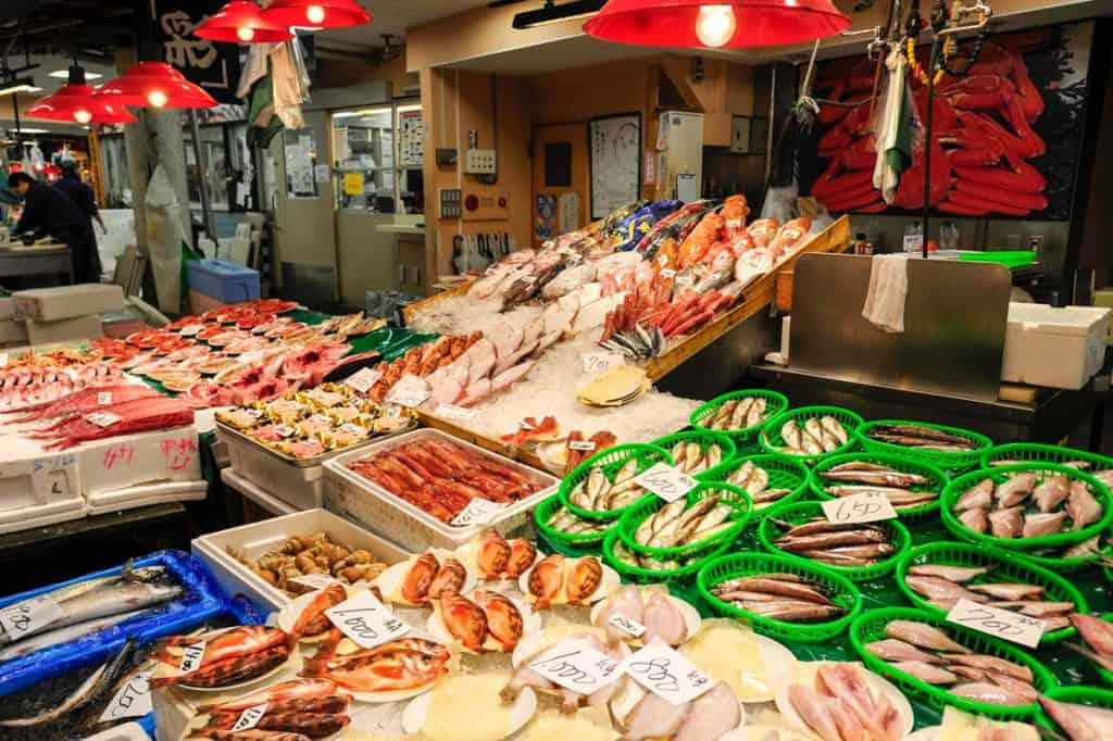 Kanazawa žuvų rinka
