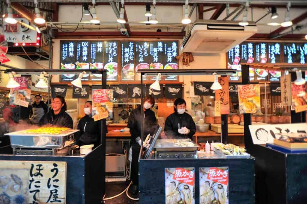 Tsukiji Tókýó markaðurinn