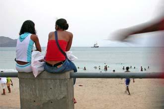 Entardecer no calçadão da Laginha, Mindelo, Cabo Verde