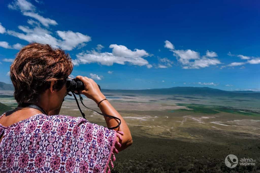 Ngorongoro kráter nézőpontja
