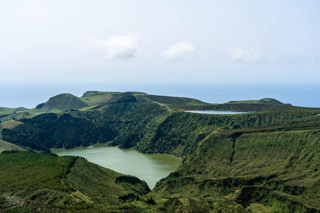 Lugares a visitar nas Flores: Miradouro das Lagoas Rasa e Funda
