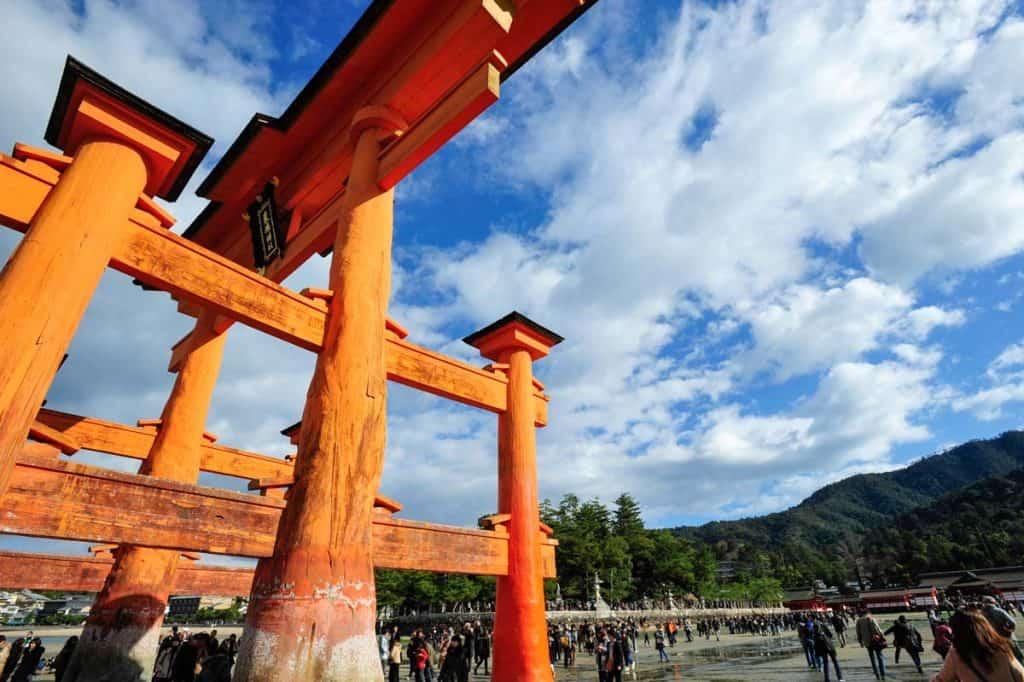 Grande porta do santuário Itsukushima
