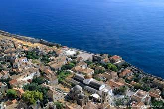 Vista sobre Monemvassia, Grécia