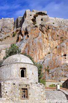 Monemvassia, sul da península do Peloponeso, Grécia