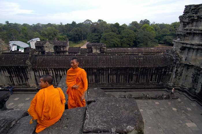Monges em Angkor Wat