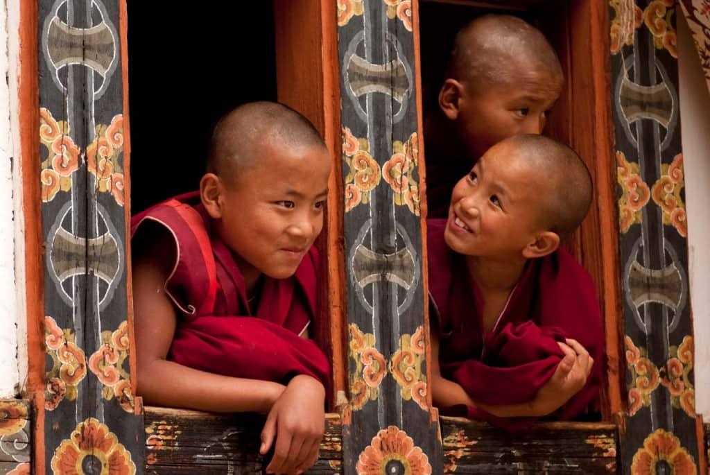 Monges budistas, Butão