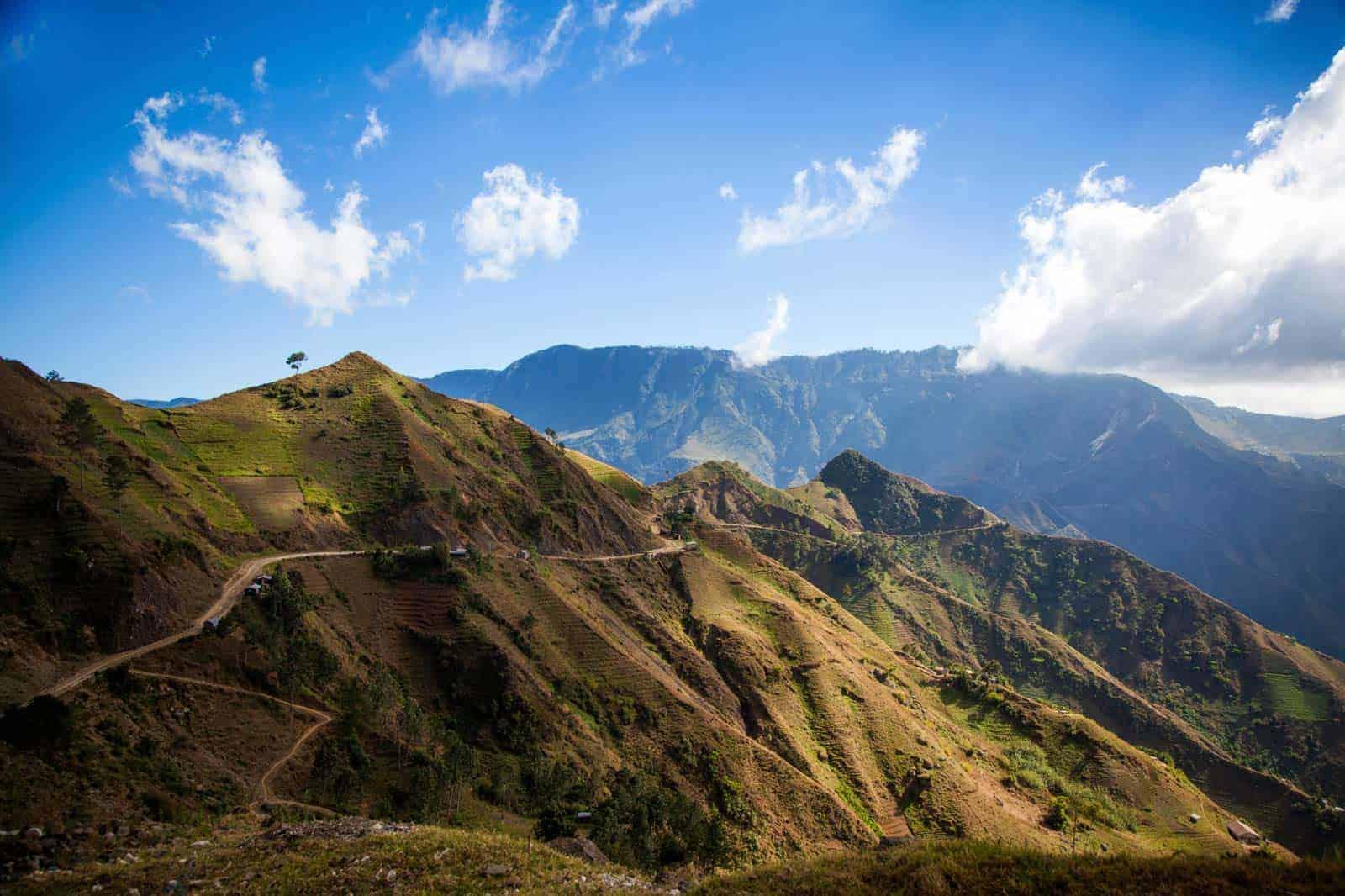 Paisagem montanhosa, Haiti