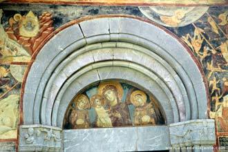 Fresco no mosteiro de Moraca, entre Podgorica e Kolasin