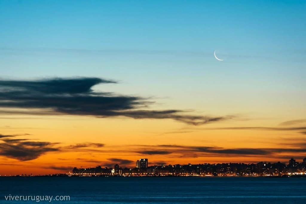 Pôr-do-sol em Montevideu