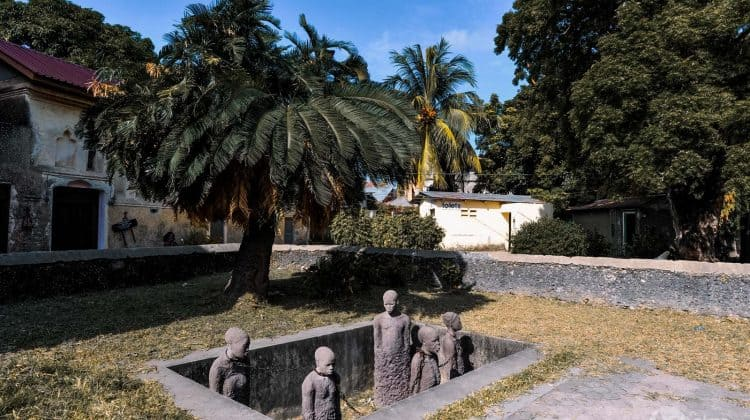 Slavernijmonument in Zanzibar