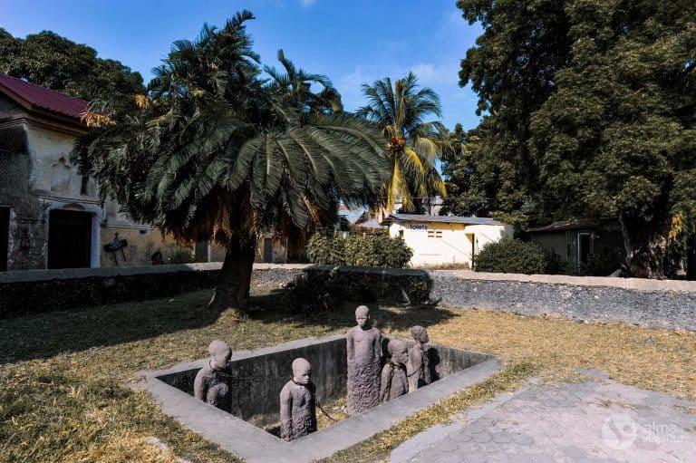 Monumento escravatura em Zanzibar