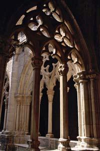 Pormenor do mosteiro de Poblet