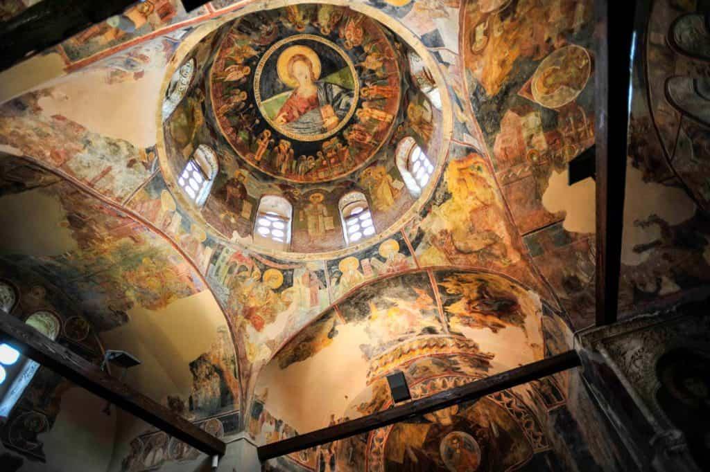 Ceiling St Pantaleon Monastery, Skopje