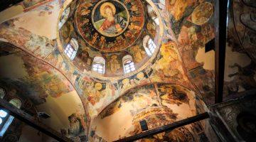 Os incríveis frescos do Mosteiro São Pantaleão, em Skopje