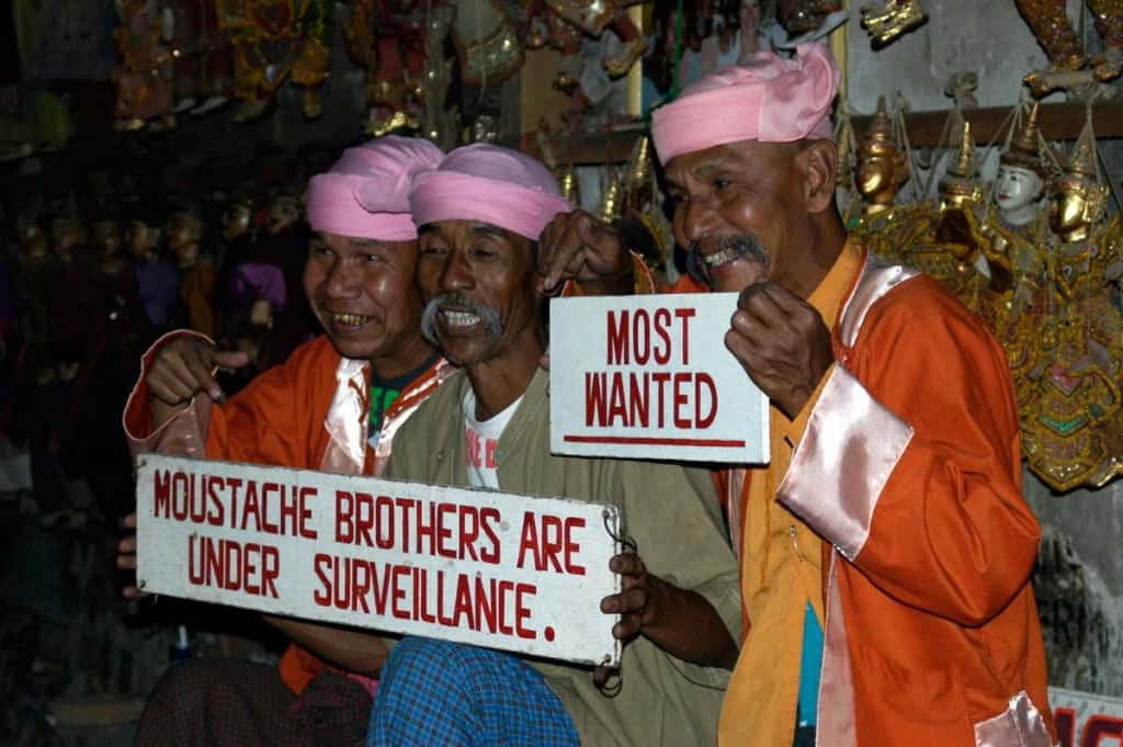 Moustache Brothers, Myanmar