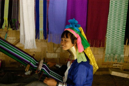 Tribo Karen (mulheres-girafa), Ban Nai Soi, Tailândia