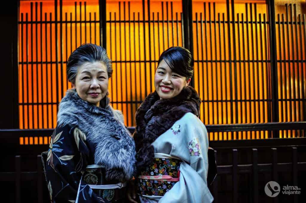 Mulheres japonesas em Kyoto