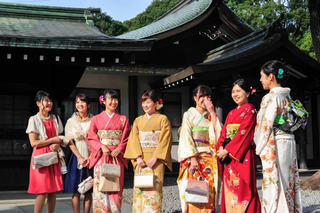 在东京明治神宫的传统婚礼
