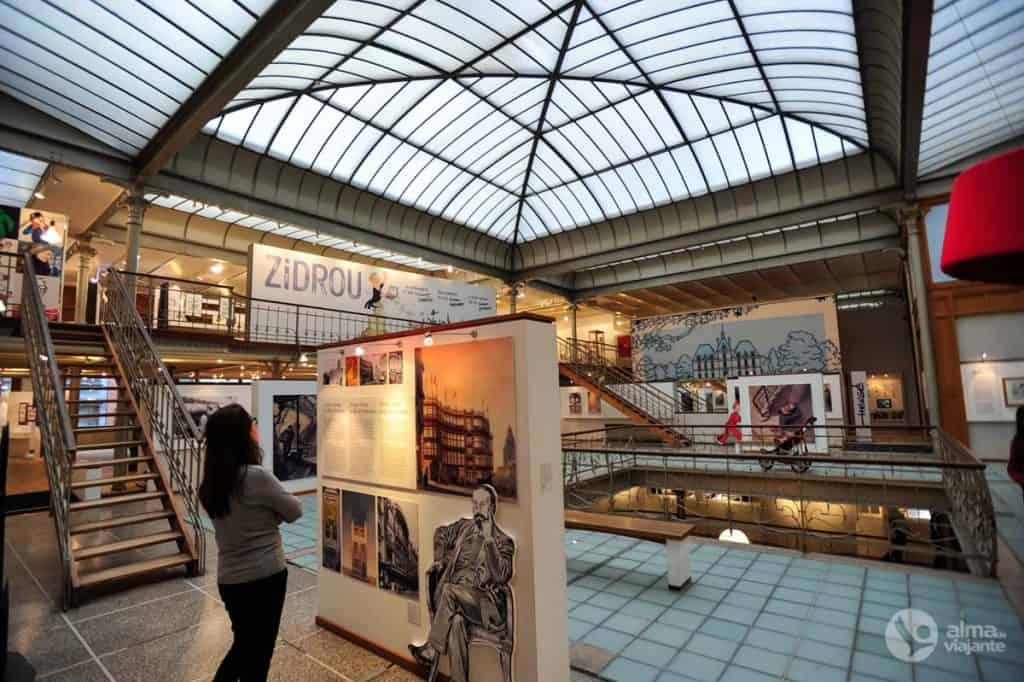 Vista do Museu da Banda Desenhada, Bruxelas