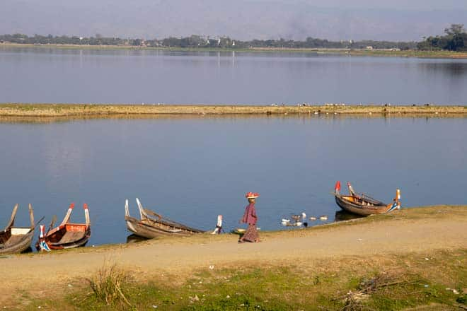 Taungthaman ežeras, Mianmaras