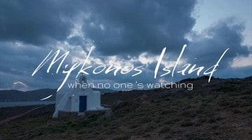 Mykonos no inverno (timelapse)
