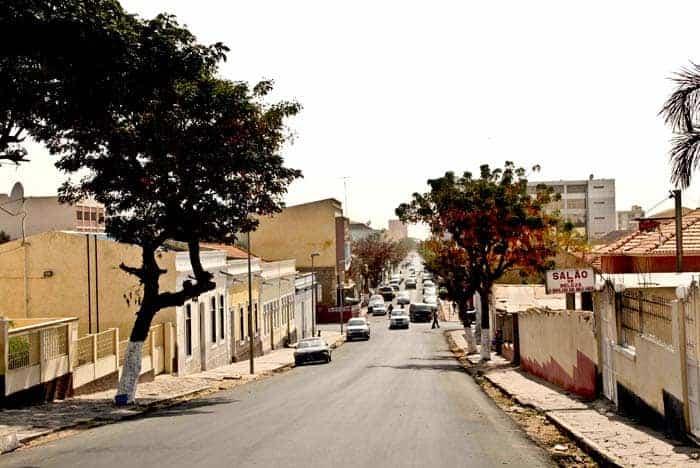 Ruas da cidade do Namibe