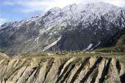 Vale de Astor, Paquistão, avistado durante um trekking no Nanga Parbat