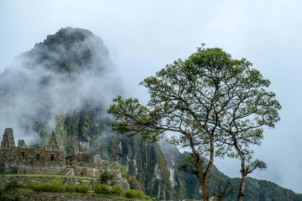 Minnisvarða í Machu Picchu