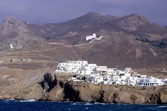 Vista de Naxos, a maior das ilhas gregas das Cíclades