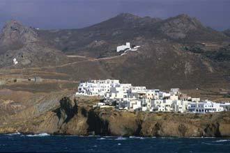 Chegada à ilha grega de Naxos