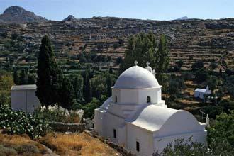 Paisagem da ilha grega de Naxos
