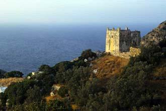 Torre de vigia em Naxos