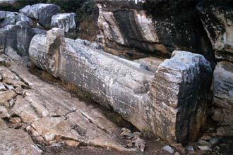 Os famosos Kouros de Naxos