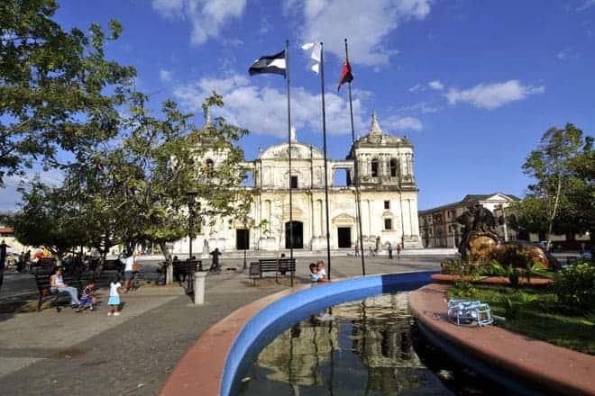 Parque Central de León, Nicarágua