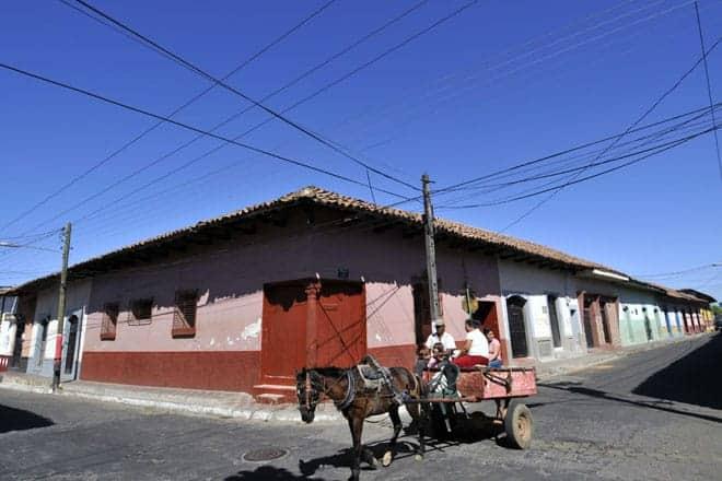 Meio de transporte ainda utilizado em León, Nicarágua