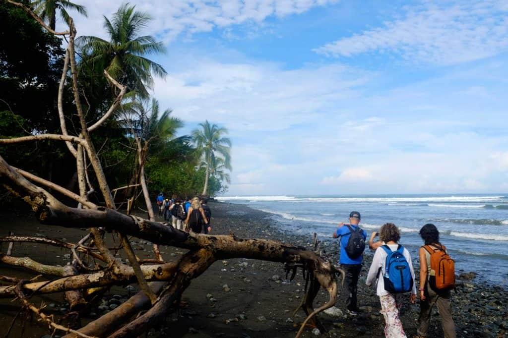 Grupo Nomad visitando o Parque Nacional de Corcovado, Costa Rica