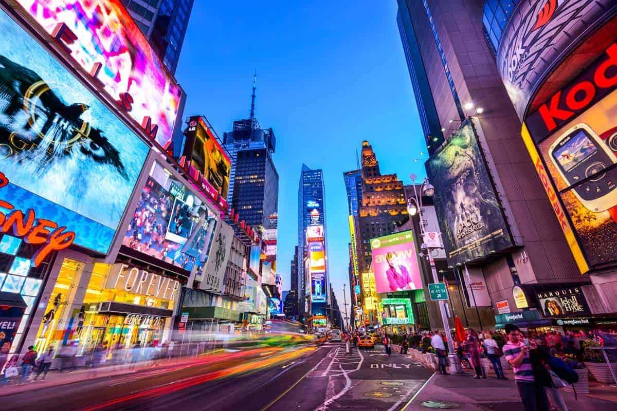 뉴욕 타임스 스퀘어 방문