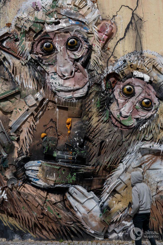Arte urbana em Viseu, por Bordalo II