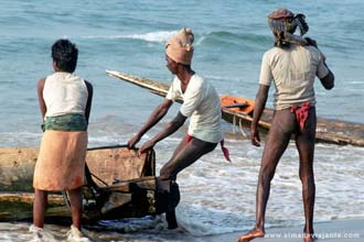 Pescadores em Puri, Orissa