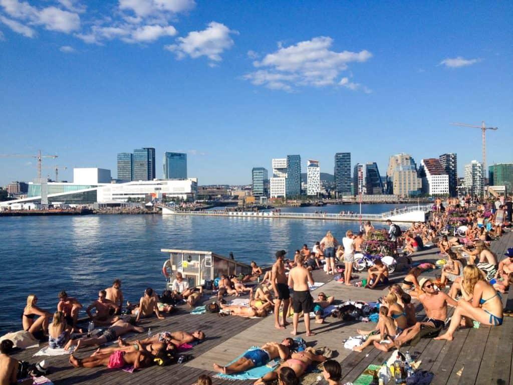 Sorenga, com vista para a Ópera de Oslo